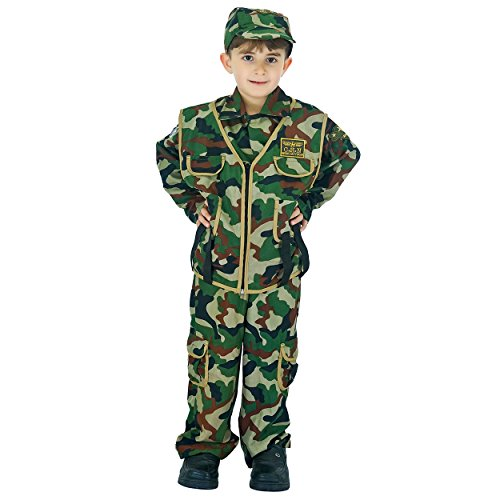 flatwhite Kids Camouflage Soldier Costume (L (10-12Y)) -
