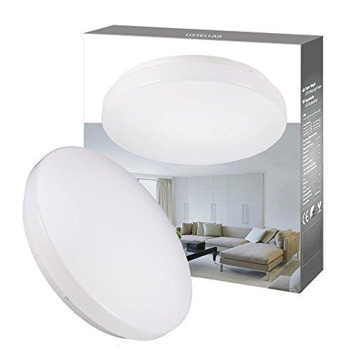 Ustellar Waterproof 12W LED Ceiling Lights, 11in, 100W Incandescent Bulbs Equivalent, IP44, 950lm, Lighting for Bathroom, Kitchen, Hallway, Flush Mount Ceiling Light, 6000K Daylight White