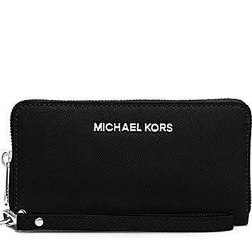 Michael Kors Jet Set Large Smartphone Wristlet in Black by Michael Kors