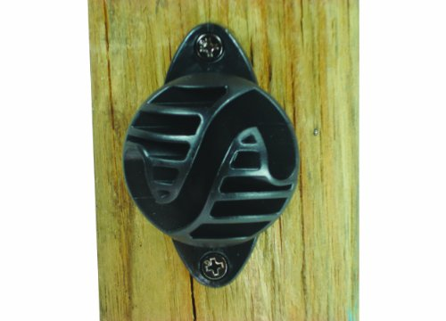 Field Guardian Wood Post Nail-On Polyrope Insulator, Black (Wire Fence Horse)