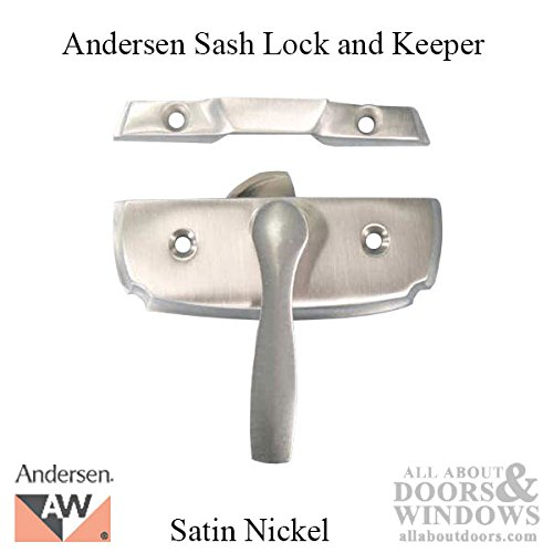 Andersen Woodwright Double Hung Windows Sash Lock & Keeper Set - Brushed/Satin Nickel by Andersen Windows