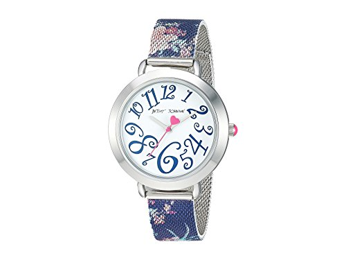 Betsey Johnson Women's BJ00688-01 Navy Floral One Size (Betsey Johnson Watch Bracelet)
