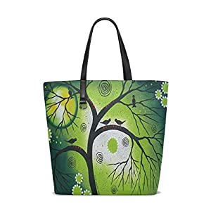 Green Tree Of Life Tote Bag Purse Handbag Womens Gym Yoga Bags for Girls