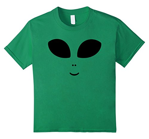 Kids Cute Alien Face Halloween Costume Hipster Unisex T-Shirt 6 Kelly Green (Cute Girl Alien Halloween Costumes)