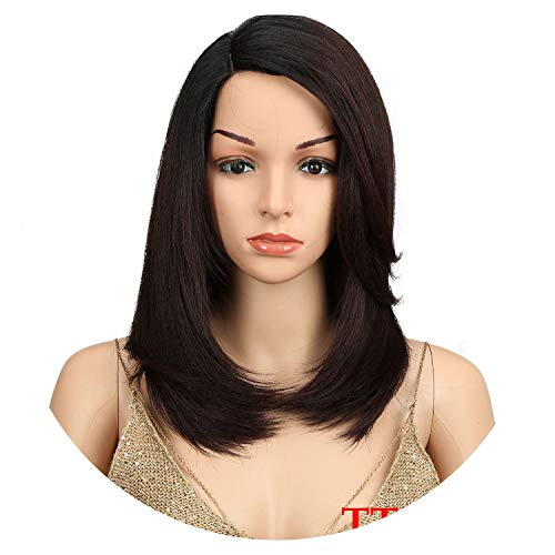 Short BOB Wig Synthetic Hair Side Part Heat Resistant High Temperature Fiber Wig,TT127N,18inches