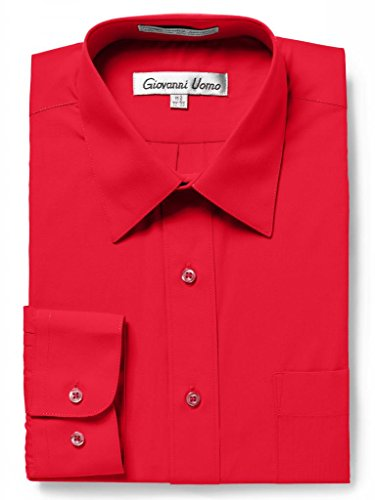 GIOVANNI UOMO Men's Traditional Fit Solid Color Dress