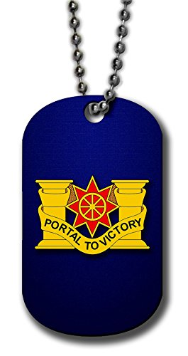 ExpressItBest Aluminum Dog Tag Necklace and Key Ring - US Army 10th Transportation Battalion, DU ()