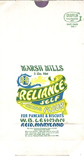 (Marsh Mills Reliance Self Rising Flour Unused Paper Flour Bag - Reid, Maryland)