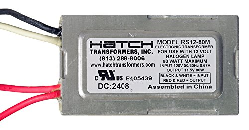 Hatch RS12-80M Electrical Transformer, 12V/120V 80W Electronic by Hatch