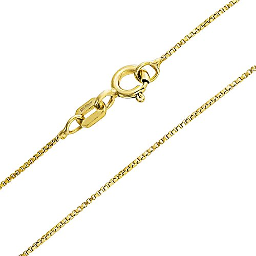 Bling Jewelry Thin Yellow Gold Plated 925 Silver Italian Gold Box (Gold Italian Jewelry Box)