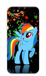 Rainbow Dash My Little Pony Friendship Iphone 5/5S Hard Protective 3D Case by eeMuse
