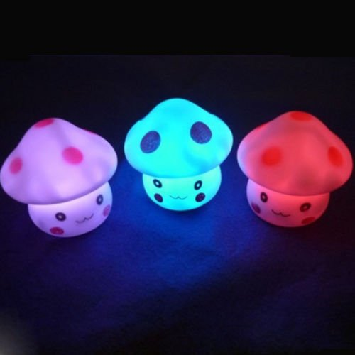 - ReachTop 7 Color Romantic Mushroom LED Night Light Lamp Battery Party Decor
