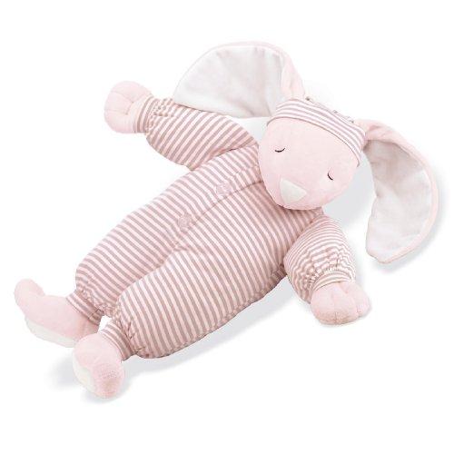 North American Bear Company Sleepyhead Bunny Pink, Pink Stripe,