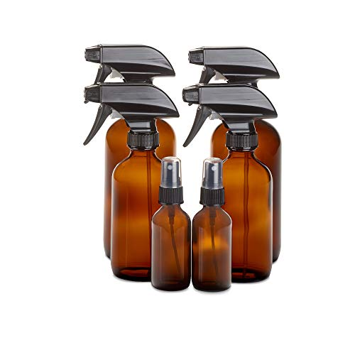1790 Amber Glass Spray Bottle Set, Perfect Essential Oil Bottles or Spray Bottles for Cleaning
