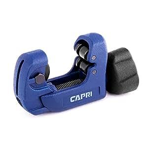 """Capri Tools MiniKlinge Mini Tube Cutter, Klinge Close Quarters with 1/8"""" to 1-1/8"""" OD, Blue"""