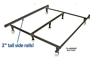 metal bed frame monster heavy duty adjustable frame for twinfullqueenkingcalifornia king