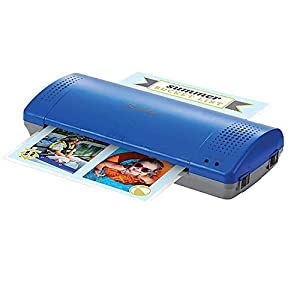 """Swingline Thermal Laminator, Inspire Plus, 9"""" Max Width, Quick Warm-Up, Includes Laminating Pouches, White/Blue (1701863ECR) by ACCO Brands"""