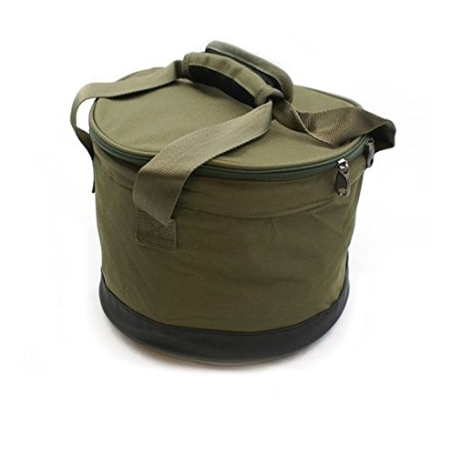 Color Verde NGT Bait Bin with Handles and Cover 27 x 27 x 5 cm Bolsa para Cebo