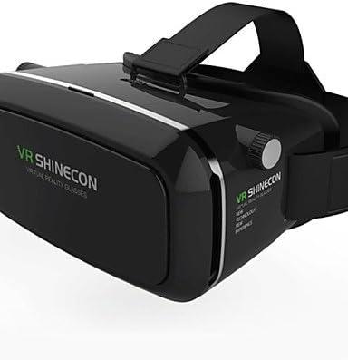 vr shinecon 3d virtual de cabeza gafas de realidad montar google cartón 3d gafas de juego de la película para el smartphone 4.7 ~ 6 , black: Amazon.es: Videojuegos
