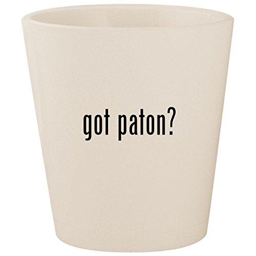 got paton? - White Ceramic 1.5oz Shot Glass - Diana Metal Chair