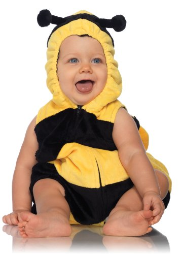 Leg Avenue Anne Geddes Bumble Bee Baby Padded Body Suit with Zipper Closure, Black/Yellow, 12M-18M (Infant Bumble Bee Costume)