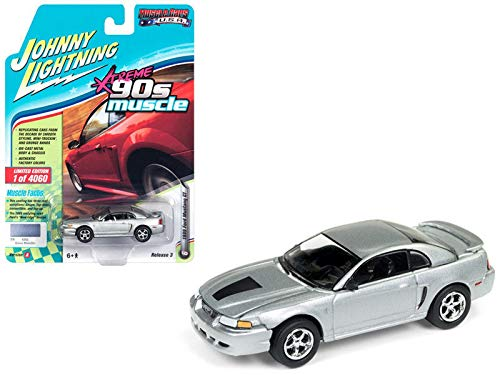 DIECAST 1:64 Muscle Cars U.S.A. Release 3 Version A - 1999 Ford Mustang GT (Silver Metallic) JLSP029-24A by JOHNNY LIGHTNING