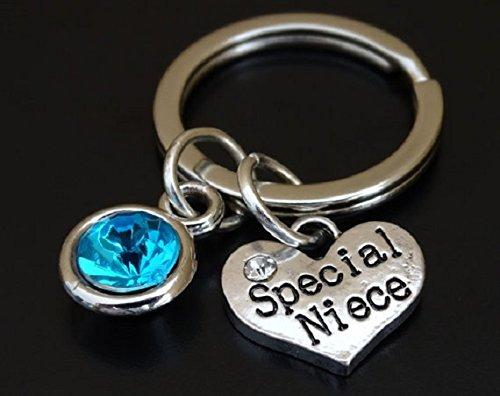 Special Niece Keychain Charm Pendant Key Chain Gift For Idea Birthday