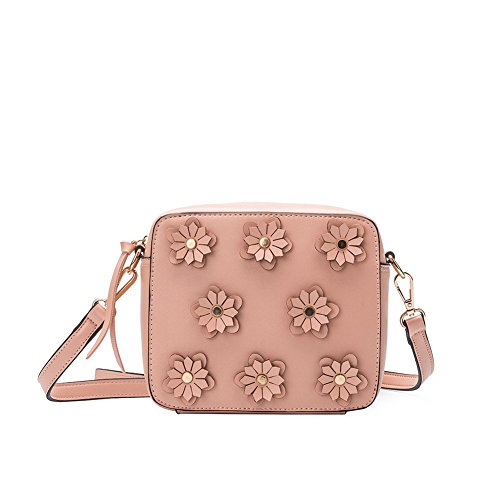 Blush Lauren Applique Bianco Melie Leather Crossbody Vegan Flower R8P5q