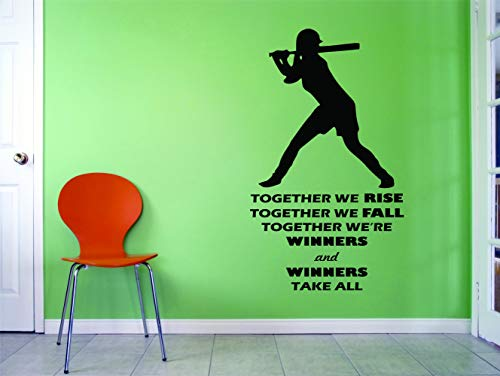 SOFTBALL WALL DECALS For Girls Bedroom / Girl Inspirational Quotes Room Decoration / Womens Sports Decor / Vinyl Decals Stickers Teens Women Motivation Decor Jennie Finch BATTER - Sticker Finch
