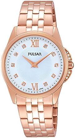 Pulsar–Reloj de Pulsera analógico para Mujer Cuarzo, Revestimiento de Acero Inoxidable pm2180X 1