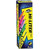 Avery Hi-Liters, Smear Safe Ink, Chisel Tip, Non-Toxic, 6 Pen Style Highlighters, Assorted Colors (23565)