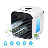 Air Conditioner Fan, Air Personal Space Cooler Small Desktop Fan Quiet Personal Table Fan Mini Evaporative Air Circulator Cooler Humidifier Bladeless Quiet for Office, Dorm, Room 3 speeds