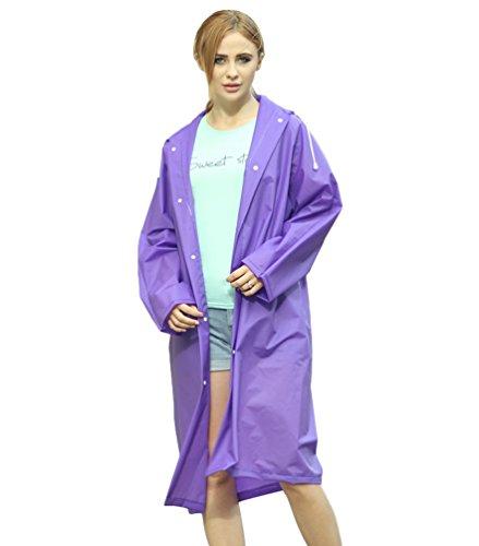 Donna Da Pioggia Manica Poncho Viola Cappotto Del Giacca Eva qwxzAt4g6