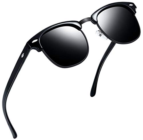 Joopin Semi Rimless Polarized Sunglasses Women Men Retro Brand Sun Glasses (All ()