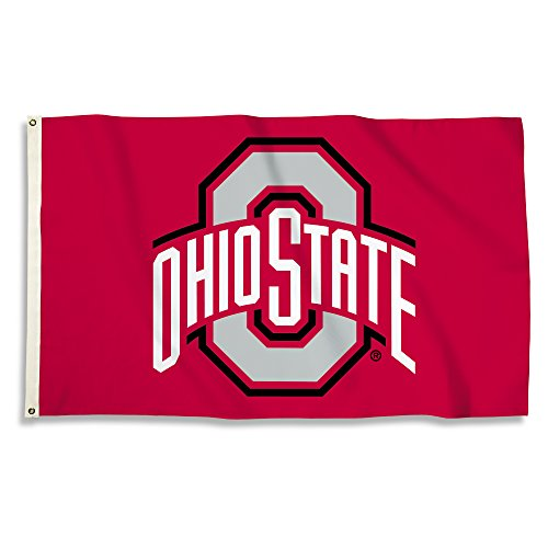 NCAA Ohio State Buckeyes 3 x 5-Feet Flag with Grommets, Team Color,