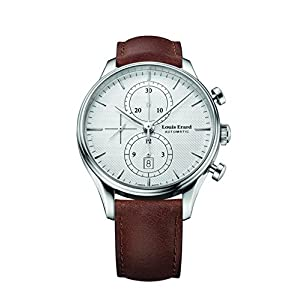 Louis Erard Men's Heritage Collection Silver Dial Chrono 78289AA21 Watch Brown Veal Leather strap