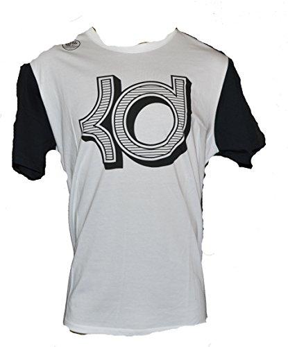 Nike Men's Dri Fit KD Open Block Short Sleeve T Shirt X-Large White Black