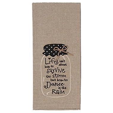 Kay Dee Designs F0743 Life Mason Jar Embroidered Tea Towel