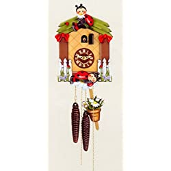 One Day Movement Kids Cuckoo Clock - Ladybird Theme 10 Inch