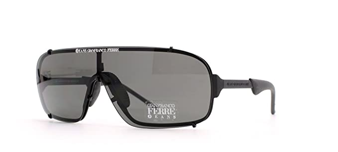 10e761b3fd81 Gianfranco Ferre 7 LQ7 Black Shield Certified Vintage Sunglasses For Mens  and Womens  Amazon.co.uk  Clothing