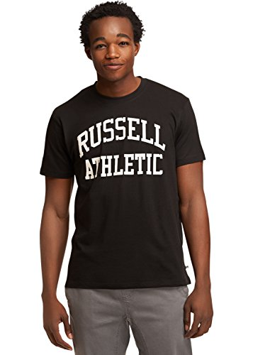 Russell Athletic Heritage Men's Iconic Arch T-Shirt, Black M