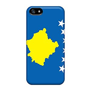 JohnRapper Scratch-free Phone Case For Iphone 5/5s- Retail Packaging - Kosovo Flag