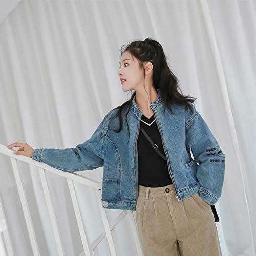 Cerniera Allentata Donna Uomo Giacca Nz M Denim Lampo colore Da Con Uniforme In Blu Blu Dimensioni qw0ggzF