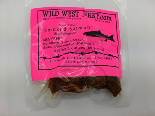 BEST Fresh Wild Caught King Smoked Salmon Squaw Candy Savory Deliciousness 2 OZ. Jerky – Natural Flavoring - Buy Multiple Packs and Save!