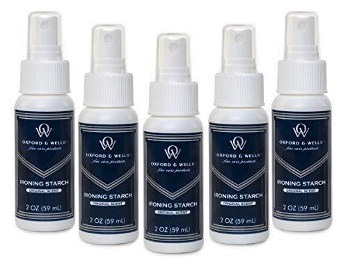 Oxford & Wells 2-ounce Premium Ironing Spray Starch - Travel size TSA compliant, non-aerosol (Pack of 5)