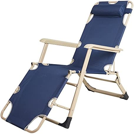 Lucky Tree Portable Chaise Lounge Chair Pool Camping Seating Chair Flat Folding Cot Recliner for Outdoor Indoor