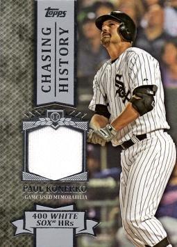 2013 Topps Chasing History Relics #CHR-PK Paul Konerko Game Worn Jersey Baseball Card
