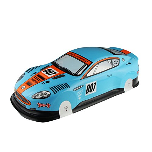 Coolplay 1/10 PVC On Road Drift Car Body Shell RC Racing Accessories Aston Martin 007- Blue ()