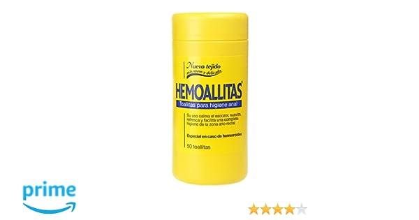 Hemoal Hemoallitas Toallitas para Higiene Anal - 50 Piezas: Amazon.es: Alimentación y bebidas