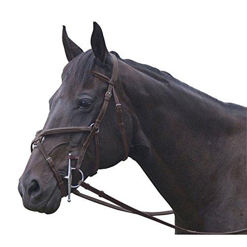 Exselle Elite Plain Raised Jumper Bridle Pony, Dark -